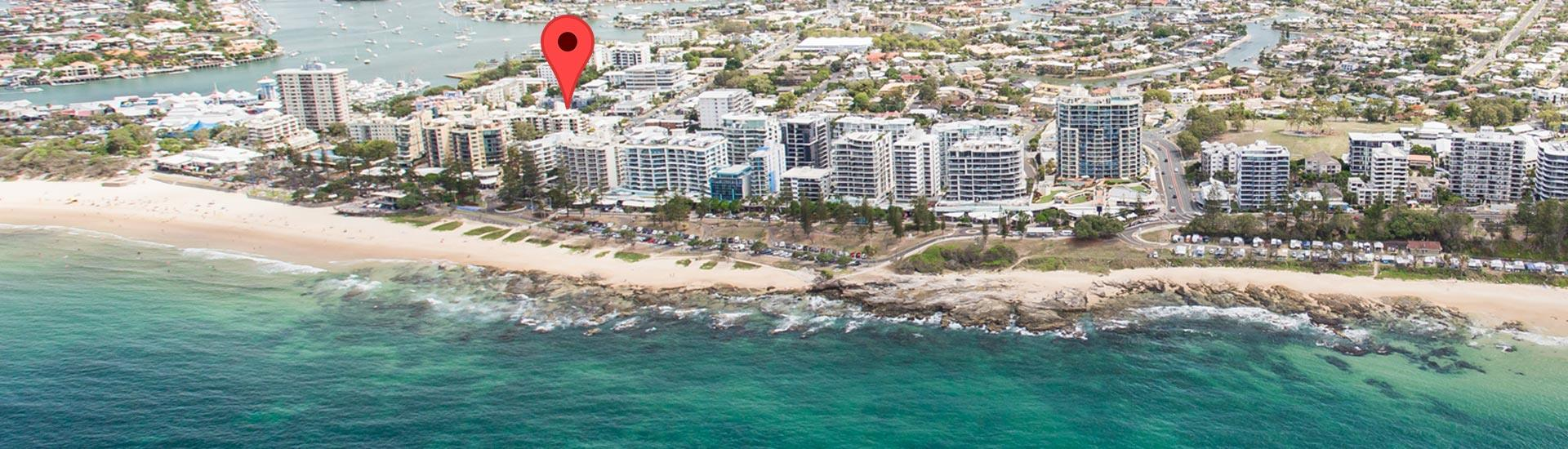 Caribbean Resort Mooloolaba Location